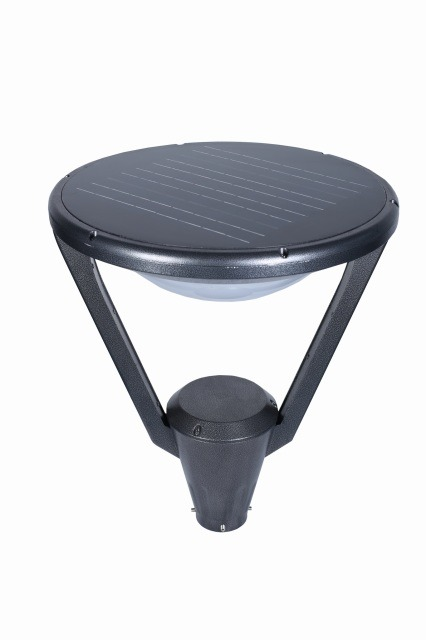 Black Outdoor Solar Post Top Style B