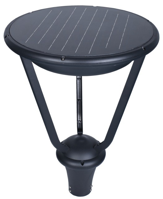 Black Outdoor Solar Post Top Head