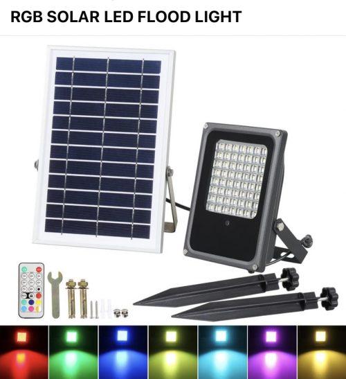RGB Flood Light - Color Changing LED & Solar Flood Lights For Sale